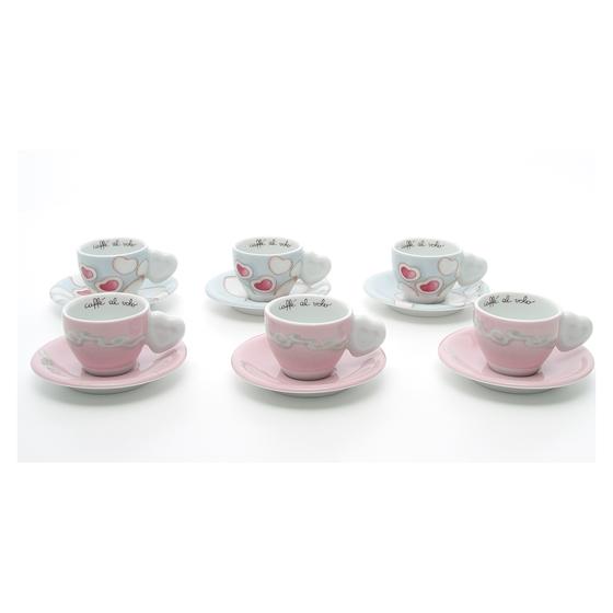 Thun confezione 6 tazzine espresso amore prestige store for Thun prestige